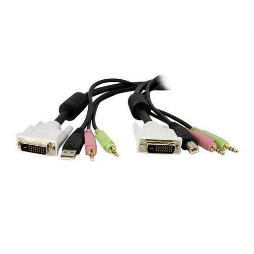 4-IN-1 USB DVI KVM SWITCH CABLE W/ AUDIO