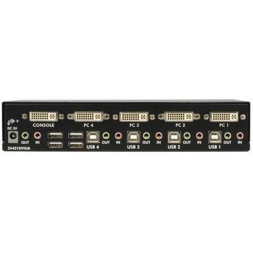 4 PORT DVI VGA DUAL MONITOR KVM SWITCH