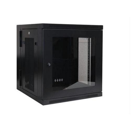 12U WALL MOUNT RACK ENCLOSURE SERVER CABINET HINGED SWINGING ACRYLIC WINDOW