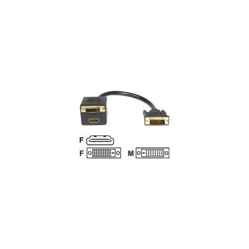 1 FT DVI-D TO DVI-D & HDMI SPLITTER CABLE - M/F