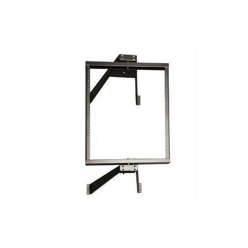 12U WALL MOUNT PIVOTING 2-POST OPEN FRAME RACK CABINET HINGED