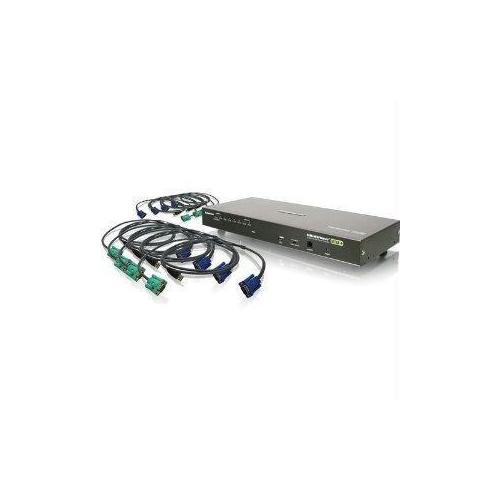 8 PORT VGA KVM SWITCH WITH USB CABLES (TAA) INCLUDES 8 USB CABLES