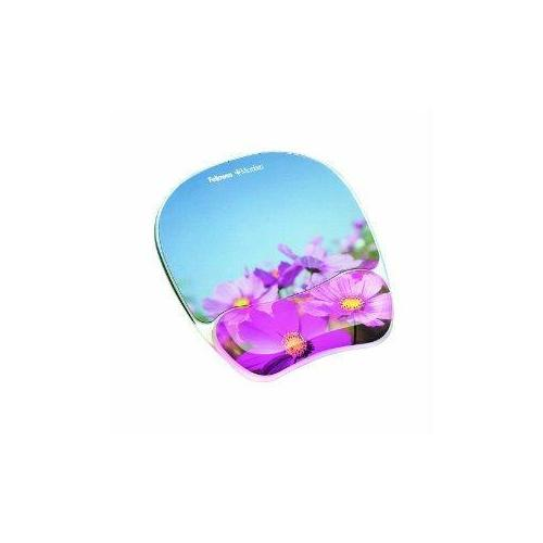 MOUSE PAD WRIST REST WITH MICROBAN PROTECTION ADDS COLOR TO YOUR WORKSPACE WITH