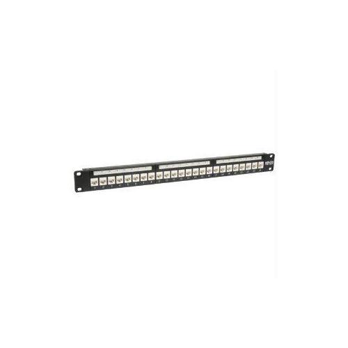 24-PORT CAT6 CAT5E PATCH PANEL LOW PROFILE FEED THROUGH RACKMOUNT RJ45 1U TAA