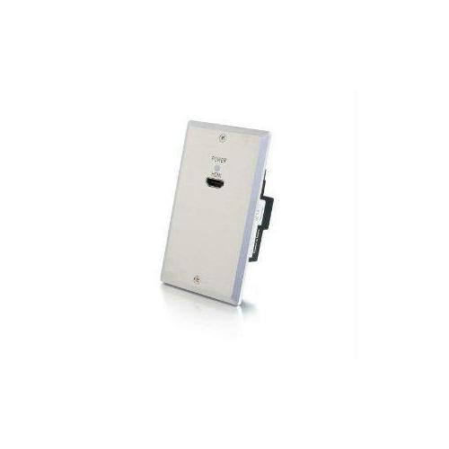 4K HDMI HDBASET OVER CAT6 EXTENDER SINGLE GANG WALL PLATE TRANSMITTER - ALUMINUM