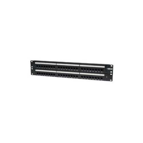 48-PORT CAT6 CAT5 PATCH PANEL RACKMOUNT 110 PUNCH DOWN RJ45 ETHERNET 1URM 568B
