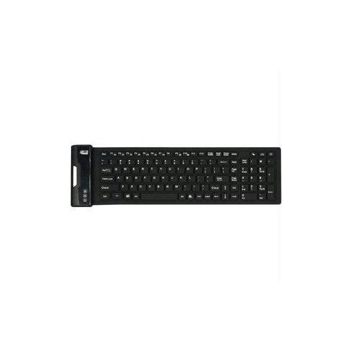 ADESSO ANTIMICROBIAL WATERPROOF FOLDABLE 108-KEY COMPACT  SIZE USB KEYBORD