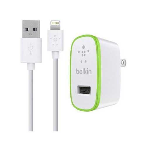 Belkin Components S Micro Ac Charger,5v,2.1aw/4 Ltg Cbl,w