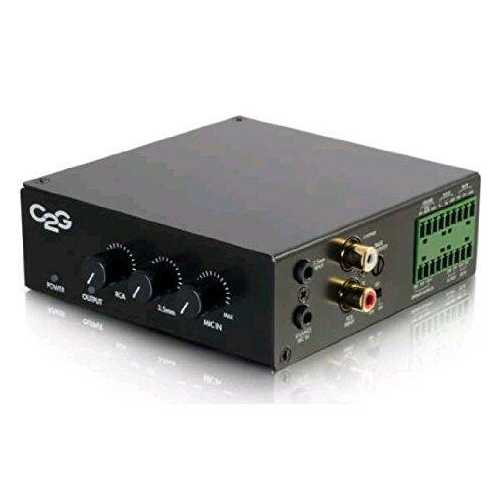 25/70V 50W AUDIO AMPLIFIER - PLENUM RATED (TAA COMPLIANT)