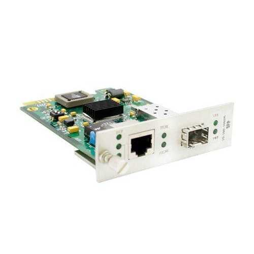 Add-on Addon 10/100/1000base-tx(rj-45) With Open Sfp Slot Media Converter Card For Our