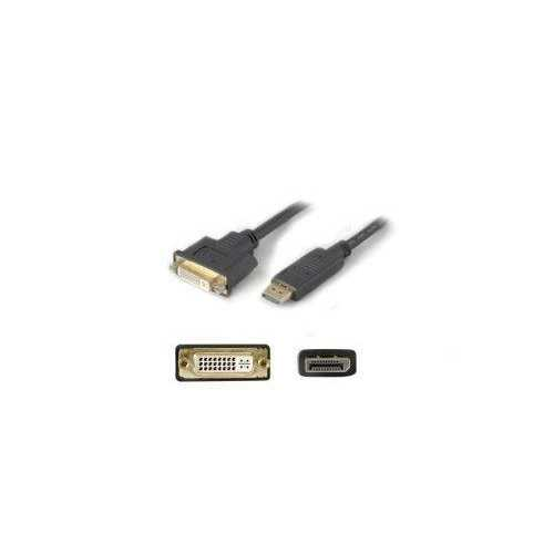 Add-on Addon 20.00cm (8.00in) Displayport Male To Dvi-i (29 Pin) Female Black Active Ad
