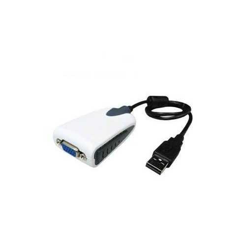 Add-on Addon 20.00cm (8.00in) Usb 2.0 (a) Male To Vga Female Black Usb Video Adapter