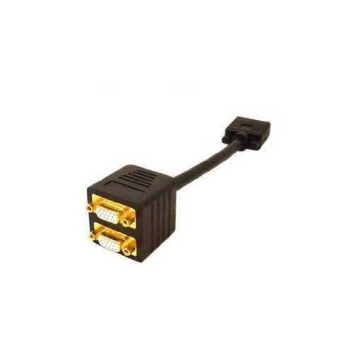 Add-on Addon 20.00cm (8.00in) Vga Male To Female Black Splitter Cable