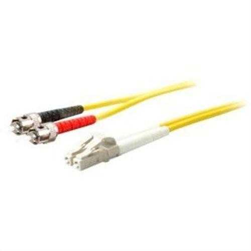 Add-on This Is A 20m Lc (male) To St (male) Yellow Duplex Riser-rated Fiber Patch Cable