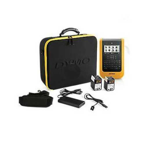 Dymo Xtl 500 Label Maker Kit, Qwerty, 2in, Black And Yellow, Xtl500 Printer, Car