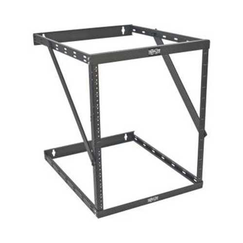 8U 12U 22U 2 POST OPEN FRAME RACK CABINET EXPANDABLE 23.5 INCH DEPTH WALL MOUNT