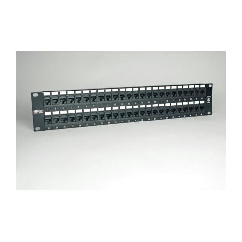 48-PORT CAT5E CAT5 RACKMOUNT PATCH PANEL 568B 110 PUNCH 2URM TAA
