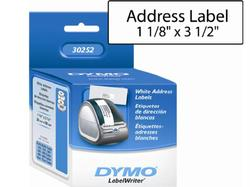 ADDRESS LABELS - 350 LABELS/ROLL, 2 ROLLS/BOX SIZE: 1-1/8IN X 3-1/2IN