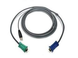 KVM CABLE - 4 PIN USB TYPE A - MALE - 15 PIN HD D-SUB (HD-15) - MALE - 10 FEET -
