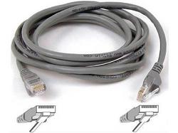 12FT CAT6 SNAGLESS PATCH CABLE, UTP, GRAY PVC JACKET, 23AWG, 50 MICRON, GOLD PLA