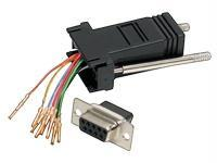 THIS DB9 TO RJ45 ADAPTER IS USED FOR MODULAR RS232, RS422, AND RS485 CONNECTIONS