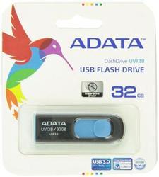 A-data Technology (usa) Co., L Dashdrive Uv128 32gb Usb 3.0 Black/blue