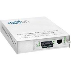 ADDON 10/100/1000BASE-TX(RJ-45) TO 1000BASE-SX(SC) MMF 850NM 550M MANAGED MEDIA