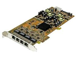 Startech Add 4 Gigabit Power Over Ethernet Ports To A Pci Express-enabled Computer - 4 Po