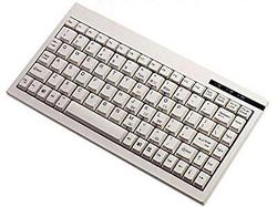 Adesso Ack-595 - Mini Keyboard With Embedded Numeric Keypad (ps/2, White)