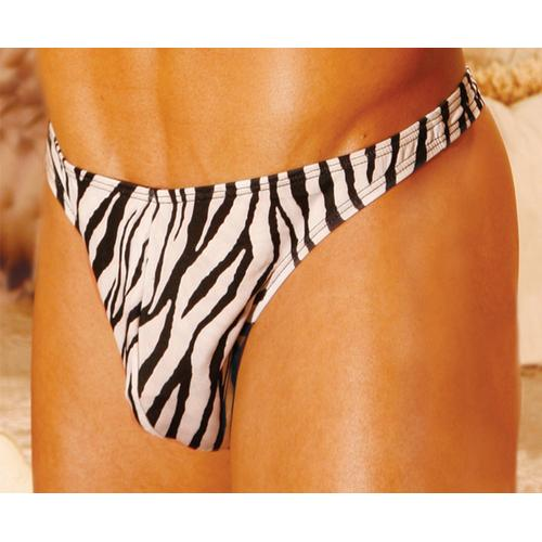 MEN'S ZEBRA THONG
