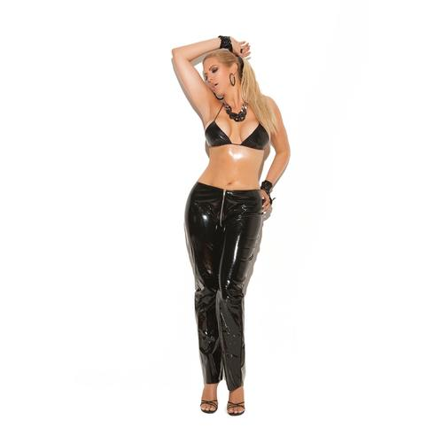 ZIP UP VINYL PANTS
