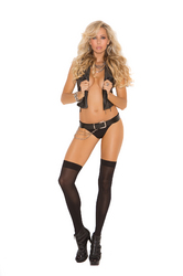 OPAQUE NYLON THIGH HI