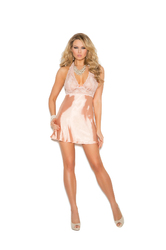 LACE & CHARMEUSE BABYDOLL