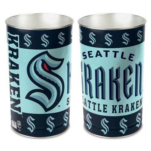 Seattle Kraken Wastebasket 15 Inch