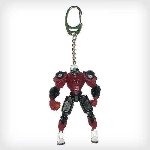 Arizona Cardinals Keychain Fox Robot 3 Inch Mini Cleatus