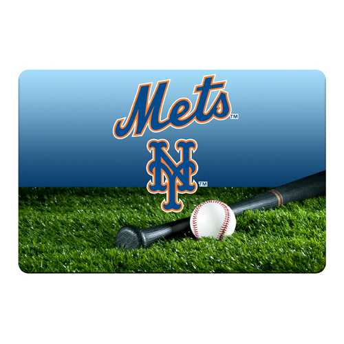 New York Mets Pet Bowl Mat Team Color Baseball Size Large
