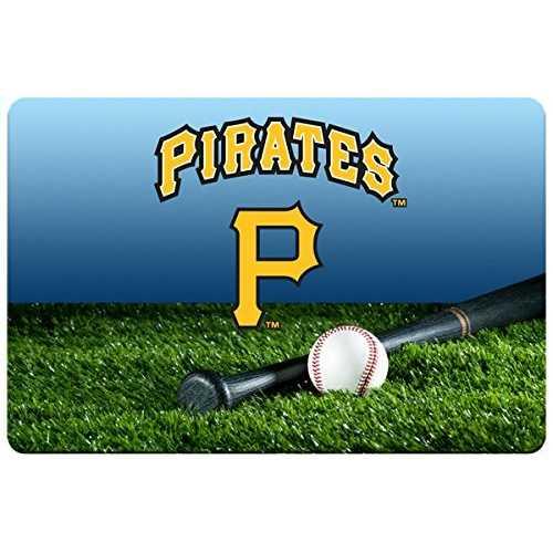Pittsburgh Pirates Pet Bowl Mat Team Color Baseball Size Large