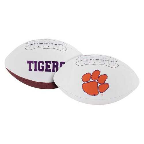 Clemson Tigers Football Full Size Embroidered Signature Series