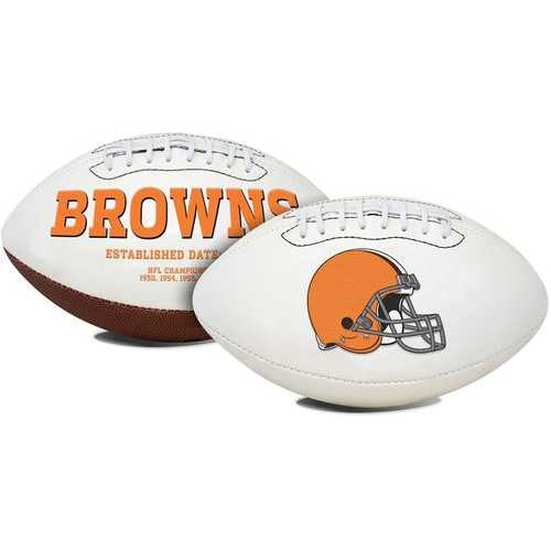 Cleveland Browns Football Full Size Embroidered Signature Series