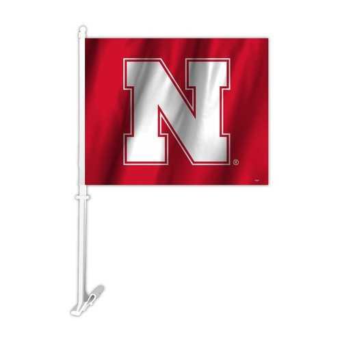 Nebraska Cornhuskers Car Flag N Logo