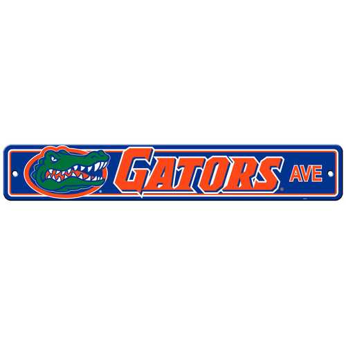 Florida Gators Sign 4x24 Plastic Street Style - Special Order