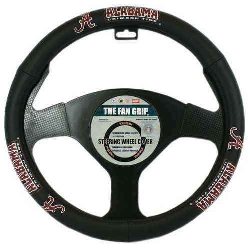 Alabama Crimson Tide Steering Wheel Cover Leather Style