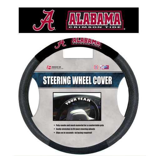 Alabama Crimson Tide Steering Wheel Cover Mesh Style