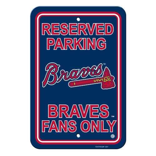 Atlanta Braves Sign - Plastic - Reserved Parking - 12 in x 18 in