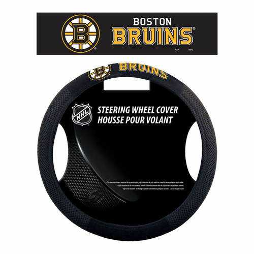 Boston Bruins Steering Wheel Cover - Mesh