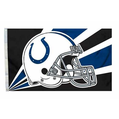 Indianapolis Colts Flag 3x5 Helmet Design