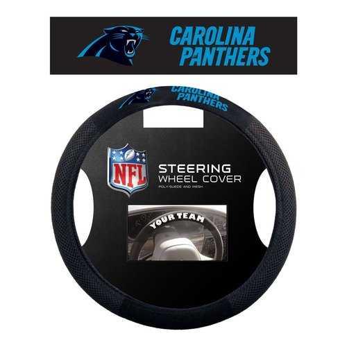 Carolina Panthers Steering Wheel Cover - Mesh