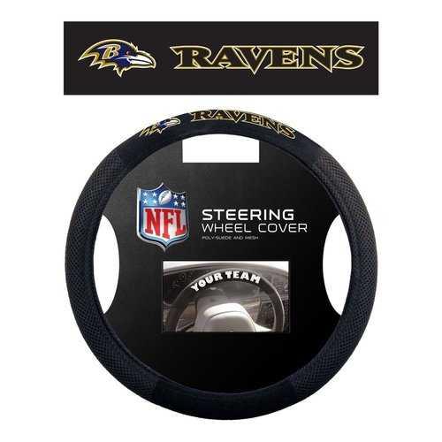 Baltimore Ravens Steering Wheel Cover - Mesh