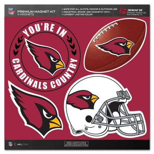 Arizona Cardinals Magnet Kit 4 Piece