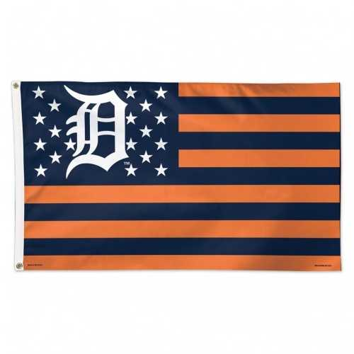Detroit Tigers Flag 3x5 Deluxe Style Stars and Stripes Design
